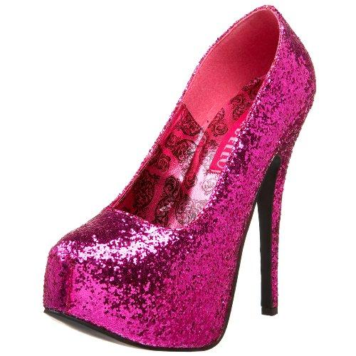 Bordello by Pleaser Womens Teeze-06 Platform PumpHot Pink Glitter10 M US