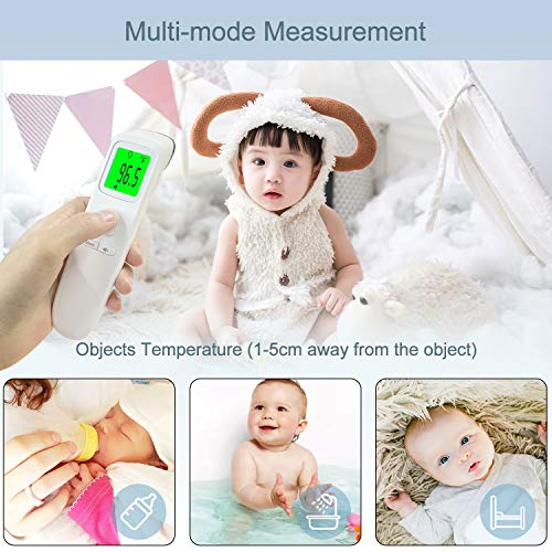 XDX Thermometer for Adults Forehead, [2020 Upgraded Model] No Touch Thermometer with Fever Alarm and Memory Ideal for Babies, Kids, Adults, Indoor Outdoor Medical Use 518Rro9OhmL