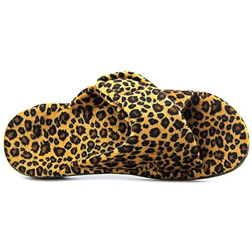 Orthaheel Womens Rilassarsi Leopardo Tan Pantofola Zebra Grigio scuro PTZ4Tp