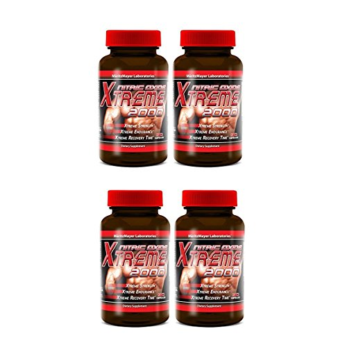 Maritzmayer Lab Nitric Oxide Xtreme Muscle Growth Supplement 90 Capsules Per Bottle (4 Bottles)
