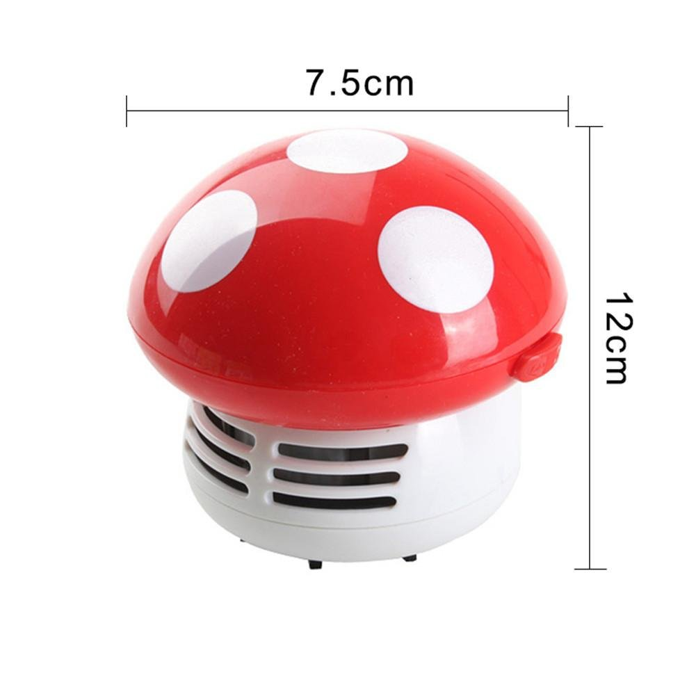 Mini Vacuum Cleaner - Desk Table Corner Dust Vacuum Cleaner Sweeper Mushroom Shaped Keyboard Cleaner Vacuum Cleaner Handheld Sucking Eraser Crumb & Scraps of Paper Delivered Without Battery