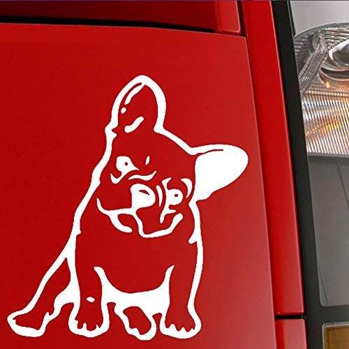 Pet Vinyl (OKDEALS White Black French Bulldog Dog/Pet Vinyl Decal Car Window Wall Sticker Laptop Decal (White))