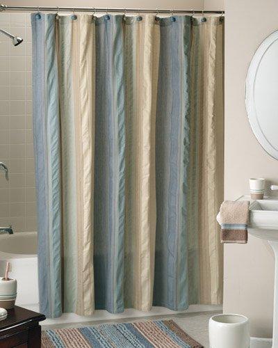 Seersucker Bathroom Accessories, Shower Curtain