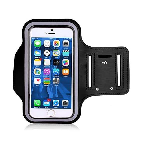 """SweatProof Armband for Big Phones, [3 Pack] CaseHigh Shop for iPhone 6S/6/5S/5/5C/4/4S & Galaxy S5/S6 Plus S7 LG G5 V10… 2 Universal Designed: Up to 5.7"""" diagonal size. This waterproof dry bag fits almost all of phones, for instance, Apple iPhone 4/4S,iPhone SE/5S/5,iPhone 6/6s,iPhone 6 Plus/6S Plus, Samsung Galaxy S4/S5/S6 edge, Samsung Galaxy S7/S7 edge, Samsung note 4/ note5, LG G5 ,LG K7, LG K10, Nokia Lumia, BlackBerry, Motorola MOTO G, Keys, Cash, MP3 Player and other personal device less than 5.7 Built-in hidden key holder to help you minimize carrying extra things when hitting the gym! Reflective strip around border to enhance 'Jog Safe' precaution Enjoy the full use of your phone through the protective screen cover on the armband with fully touch compatible, easily answer calls, manage your playlist, or activate your stopwatch without removing the phone"""