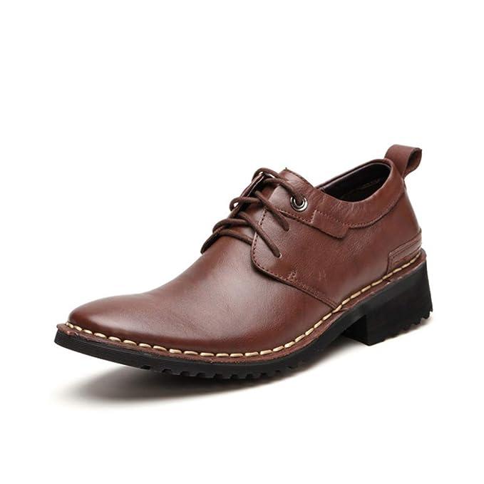DAN Mocasines Para Hombres Zapatos Casuales De Cuero Zapatos De Vestir Para Empresas Pisos Zapatos Transpirables: Amazon.es: Ropa y accesorios
