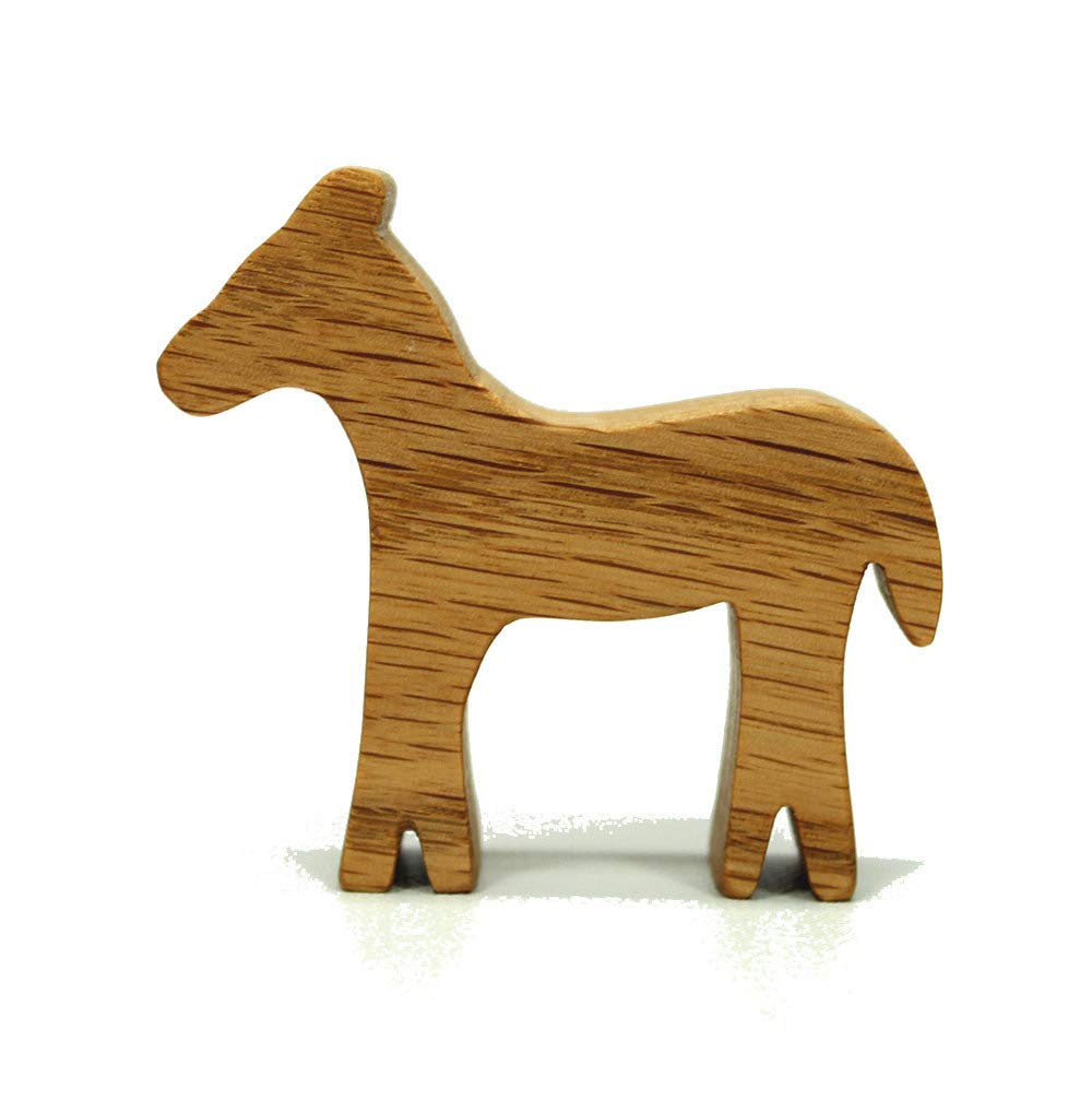 Farm Animal Wooden Toy Horse