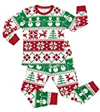 CharmLeaks Kids Christmas Pajama Sets Little Girls Long Sleeve Jammies Cotton Xmas PJS