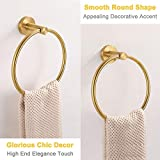 Hand Towel Ring Brushed Gold, APLusee SUS 304