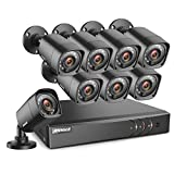ANNKE 8-Channel 1080P Lite Video Security System CCTV H.264+ DVR + 8 Indoor/Outdoor 1.0MP 720P Weatherproof Surveillance Security Camera System, Email Alert with Snapshots, NO HDD