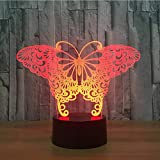 Zonxn Night Light Butterfly 3D Visual Illusion Lamp Transparent Acrylic Night Light Led Lamp Color Changing Touch Table Bulbing Lamp 3D Deco Light