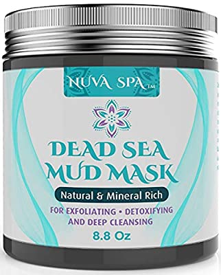 Dead Sea Mud Mask For Face, Acne, Oily Skin & Blackheads - Best Facial Pore Minimizer, Reducer & Pores Cleanser Treatment - Natural For Younger Looking Skin