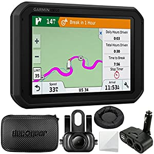 "Garmin dezl 780 LMT-S 7"" GPS Truck Navigator (010-01855-00) + Garmin BC 35 Wireless Backup Camera + Hard EVA Case with Zipper, 7-inch + GPS Navigation Dash-Mount + More"