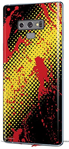 Decal Style Skin Wrap for Samsung Galaxy Note 9 Halftone Splatter Yellow Red ()