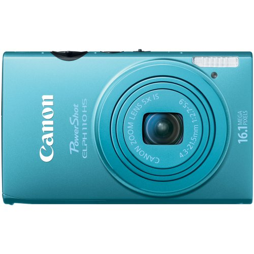 Canon PowerShot ELPH 110 HS 16.1 MP CMOS Digital Camera with 5x Optical Image Stabilized Zoom 24mm Wide-Angle Lens and 1080p Full HD Video Recording (Blue) ()