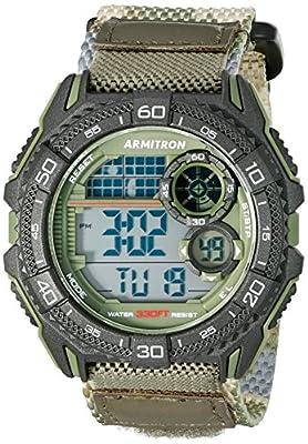 Armitron Sport Men's 40/8329COG Digital Chronograph Green Camouflage Nylon Strap Watch