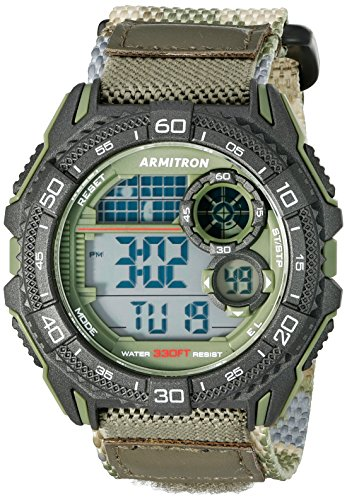 Armitron Sport Men's 40/8329COG Digital Chronograph Green Camouflage Nylon Strap Watch