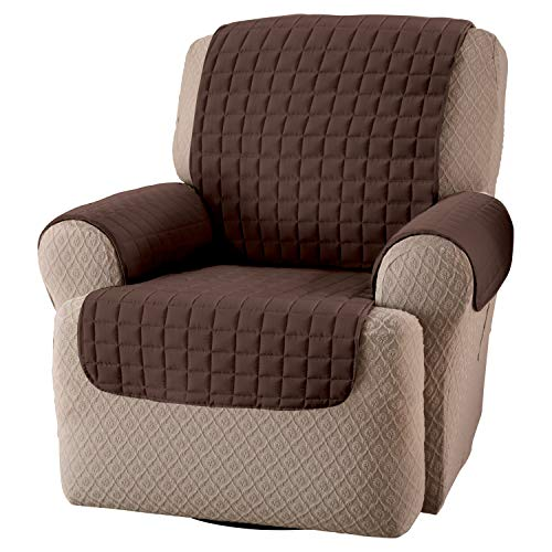 Innovative Textile Solutions, Microfiber Furniture Protector Recliner Wing Chair, Perfect Chair Protection, Comfortable Easy Stretch Fabric, Protect Against Spills and Stains (Chocolate)