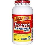 Tylenol Arthritis Pain 250 Caplets Bottle, 650mg Acetaminophen