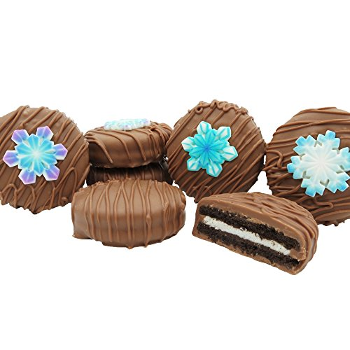 Philadelphia Candies Milk Chocolate Covered OREO Cookies, Winter Snowflake Gift Net Wt 8 oz