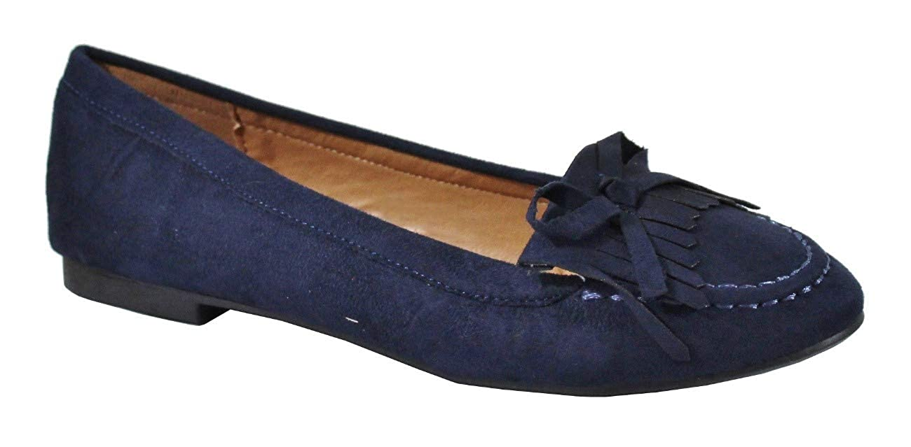 Femme by Shoes Ballerine Plate Style Daim