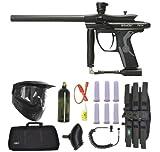 Spyder Fenix Electronic Paintball Marker Gun 3Skull Sniper Set - Diamond Black