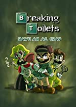"""Video Game Parody """"Breaking Toilets"""" Movie TV Show Logo - Rectangle Refrigerator Magnet"""