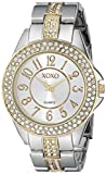 XOXO Women's XO5462 Rhinestone-Accented Two-Tone Watch