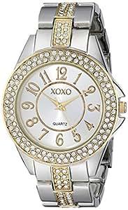 XOXO Women's XO5462 Rhinestone-Accented Two-Tone Watch