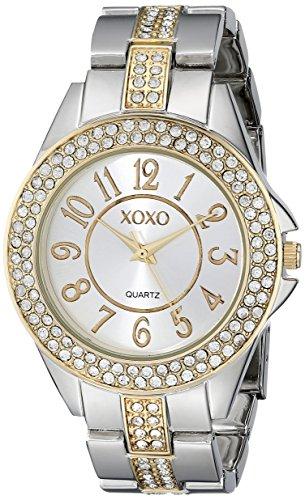 XOXO Women's XO5462 Rhinestone-Accented Two-Tone Watch Tt Gold Dial