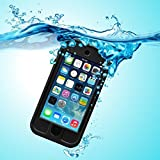 PARLT Waterproof Full-Body Sealed Case with Kickstand for Apple Ipod Touch 5th/6th Generation - Black