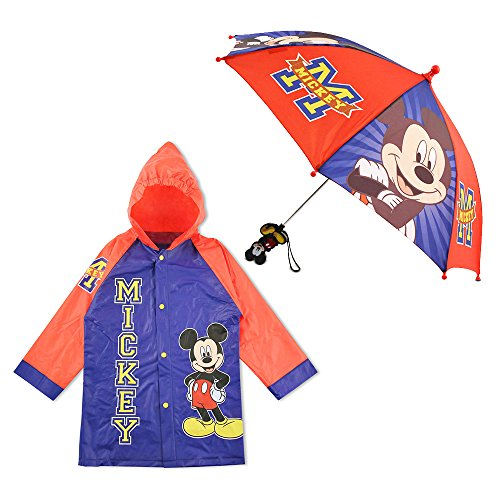 98cbd28a6 Disney Little Boys Mickey Mouse Character Slicker and Umbrella Rainwear  Set, Blue, 2-3 - Buy Online in Oman. | Apparel Products in Oman - See  Prices, ...