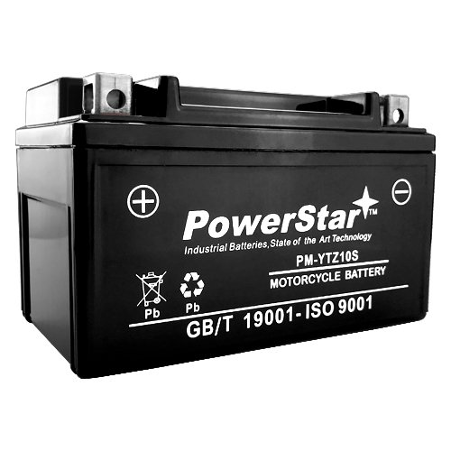 POWERSTAR YTZ10S 12V 8.6AH Replacement Battery for Honda CBR600RR 03-04, 05-06 - US ()