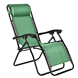 Flexzion Zero Gravity Chair   Anti Gravity Outdoor Lounge Patio Folding  Reclining Chair And Textilene Seat ...
