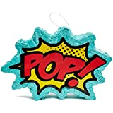 Juvale Small Comic Superhero Pinata, Kids Birthday Party Supplies, 17 x 11 x 3 Inches