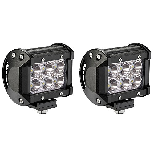 LED Light Bar, Northpole Light 2 x 18W Waterproof Cree Spot
