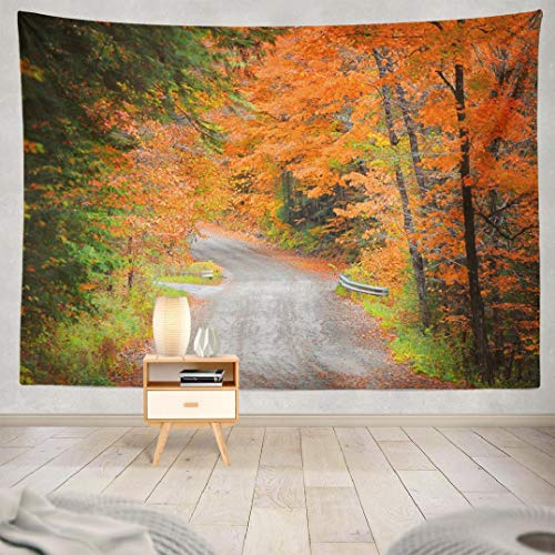 Kutita Autumn Forest Tapestry, Wall Hanging Tapestry Autumn New America Colorful England Fall Foliage Wall Tapestry Dorm Home Decor Bedroom Living Room in 80X60 inch