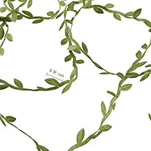 HOGADO Artificial Vines, 132 Ft Fake Hanging Plants Silk Ivy Garlands Simulation Foliage Rattan Green Leaves Ribbon Wreath Accessory Wedding Wall Crafts Party Decor 6