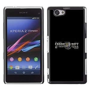 // PHONE CASE GIFT // Duro Estuche protector PC Cáscara Plástico Carcasa Funda Hard Protective Case for Xperia Z1 Compact D5503 / Space searching /