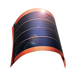 Fexible Solar Panel Solar Power Charger Thin Film DIY 1W 6V Photovoltaic Cells (red)