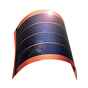 jiang Fexible Solar Panel Solar Power Charger Thin Film DIY 1W 6V Photovoltaic Cells (red)