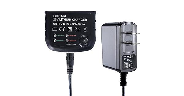 Amazon.com: Biswaye - Cargador de batería de litio de 20 V ...