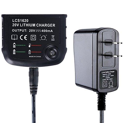 - Biswaye 20V Lithium Battery Charger LCS1620 for Black & Decker 16V 20V Lithium Ion Battery LBXR20 LBXR20-OPE LB20 LBX20 LBX4020 LB2X4020 LBXR2020-OPE BL1514 LBXR16 in US Plug