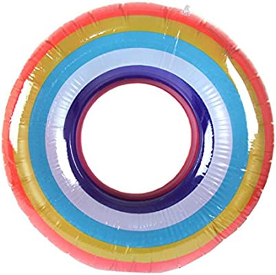 luoluoluo ❤ cálida piscina hinchable Multicolor anillo de baño ...