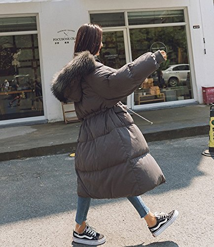 Jacket The Cotton Xuanku Clothes Coat Thickening Hooded Big Winter Hair Of Grey Long Section In Collar Female Cotton The xwSnaOqA0w