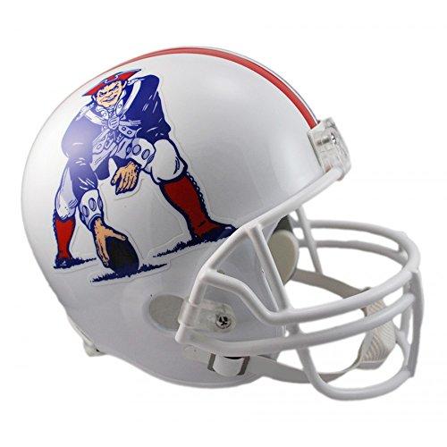 1982 Throwback Replica Mini Helmet - Riddell NFL New England Patriots 1982-1989 Throwback Replica Vsr4 Full Size Football Helmet