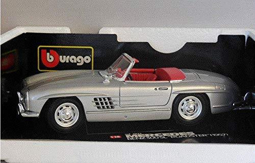 Bburago 1/18 Scale Mercedes Benz 300SL Roadster 1957 Silver