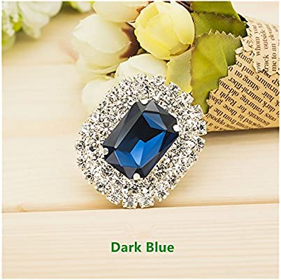 0498d890885ca Casualfashion Shoes Dress Hat Accessories Fashion Rhinestones Crystal Shoe  Clips 2 Pcs (Dark Blue)