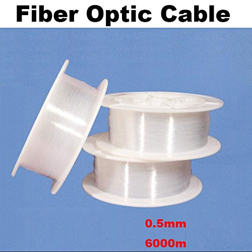 0.5mm 0.75mm 1.0mm 1.5mm 2mm 2.5mm 3mm PMMA Led Optic Fiber Cable Light End Glow Fibra Optica Ceiling Kit DIY Decoration Market (0.5mm 6000M) (Kit Fibre Cable Optic)
