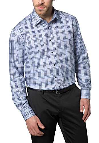 Eterna Long Sleeve Shirt Comfort Fit Oxford Checked
