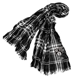 Littlearth NBA Brooklyn Nets Plaid Crinkle Scarf